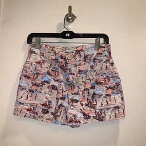 BDG urban outfitters beach novelty print shorts